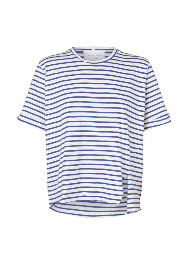 Aruba Tee Blue & White Stripe