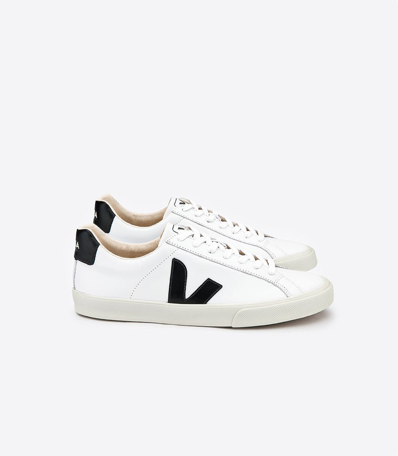 Esplar Low Extra White Black-Shoes-Veja-UPTOWN LOCAL