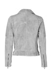 Classic Biker Jacket - Grey Suede / Silver Hardwear-Jackets-ENA PELLY-UPTOWN LOCAL