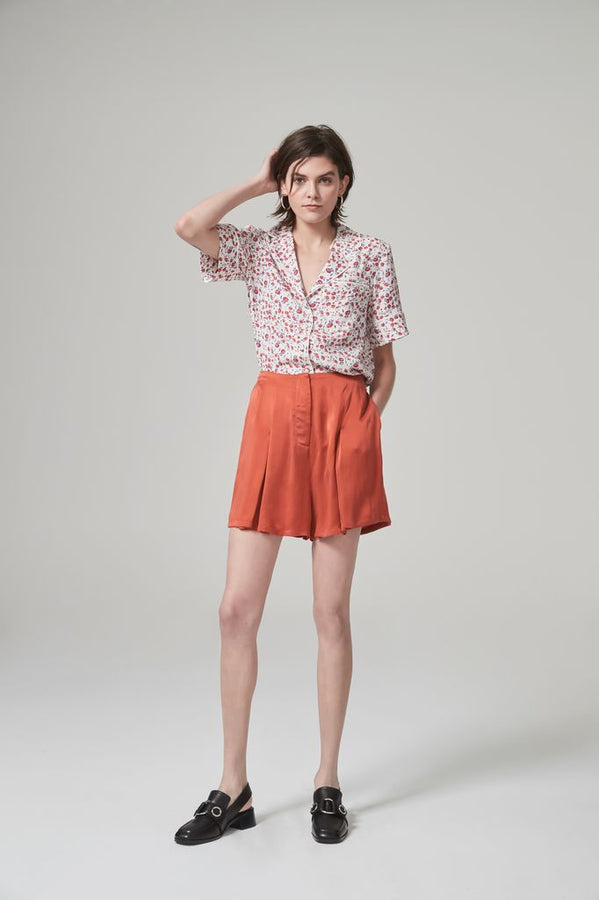 Fran Short Rust-Shorts-Hansen and Gretel-UPTOWN LOCAL