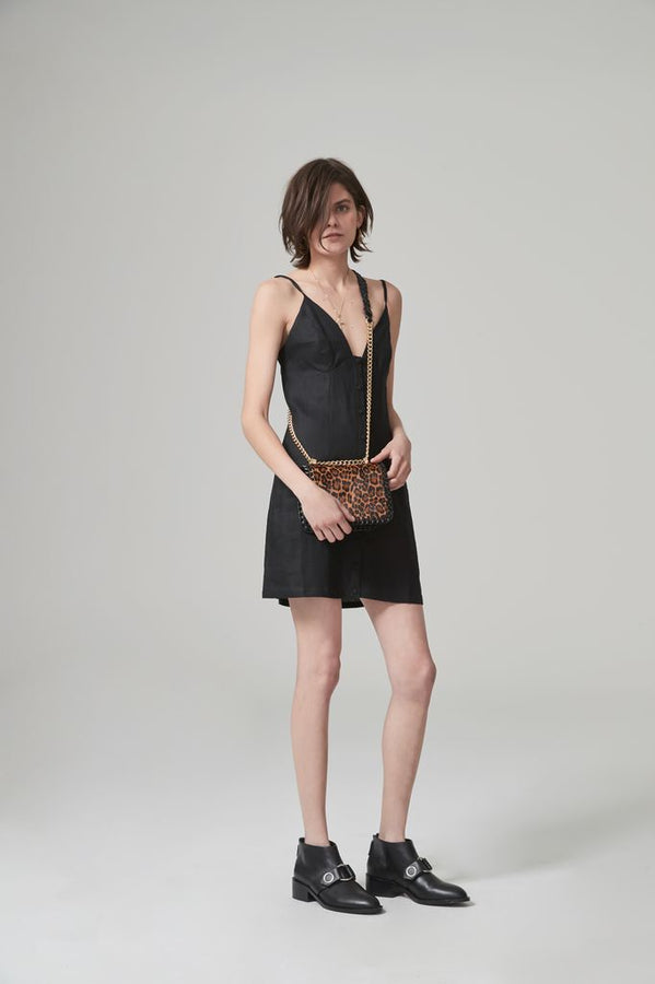 Jourdan Linen Dress Black