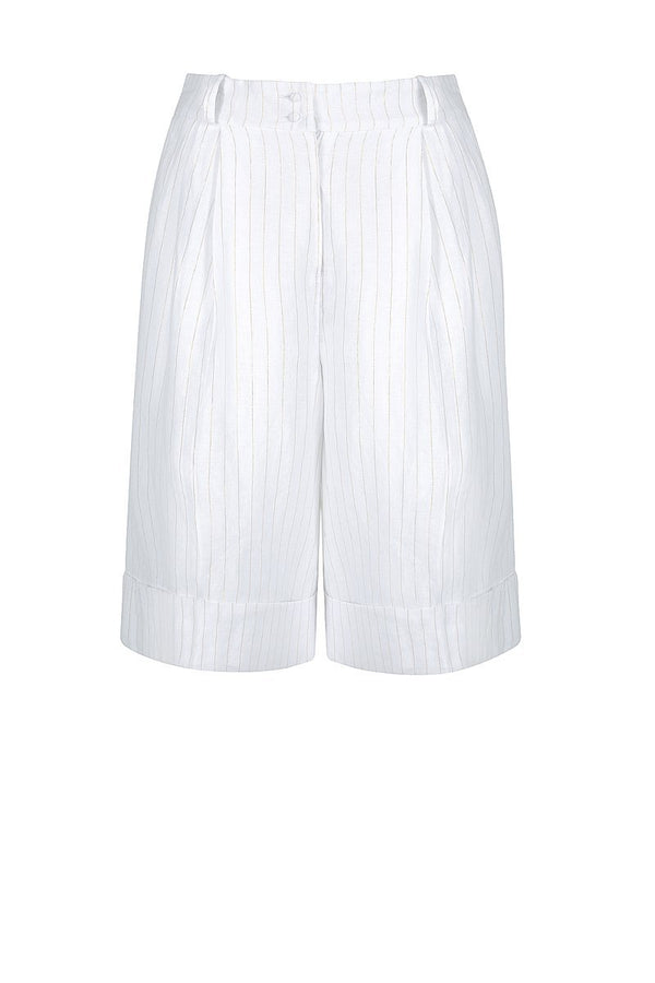 Holden Bermuda Short White/Gold-Shorts-Shona Joy-UPTOWN LOCAL
