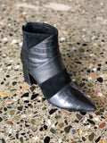 Zellah Boot - Black Croc Mix-Shoes-Nude Footwear-37-UPTOWN LOCAL