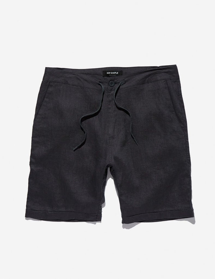 Tanner Short Black-Shorts-Mr. Simple-UPTOWN LOCAL
