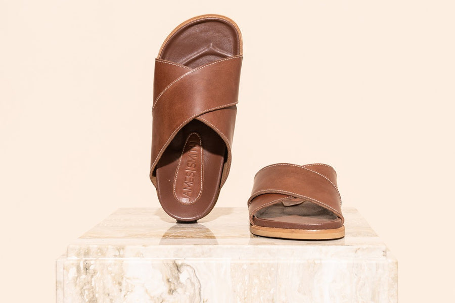 La Sponda Slide Brown Vintage-Shoes-James Smith-36-UPTOWN LOCAL