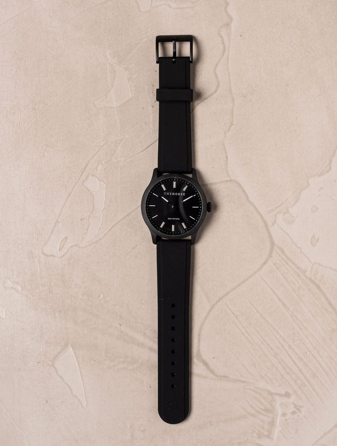 The Coast - Matte Black Case / Black Dial / Black Silicone Strap-Watch-The Horse-UPTOWN LOCAL