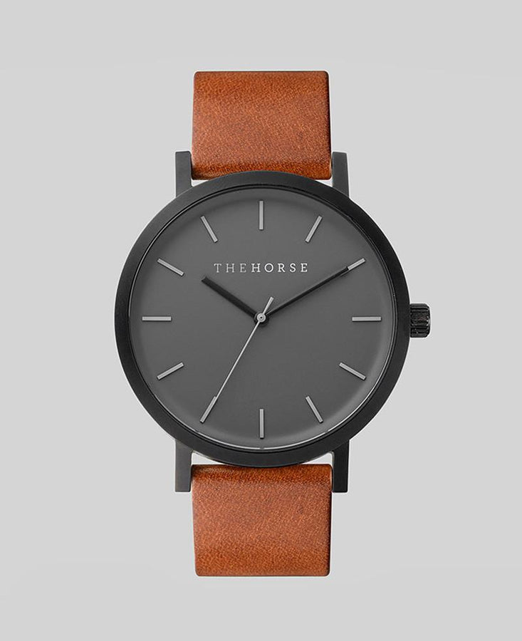 The Original - Matte Black / Tan Leather-Watch-The Horse-UPTOWN LOCAL