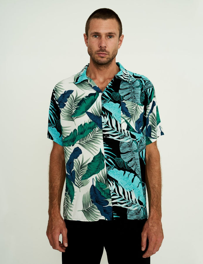 Bowler Shirt - Tropical Green-Shirts-Simple Vintage-S-UPTOWN LOCAL