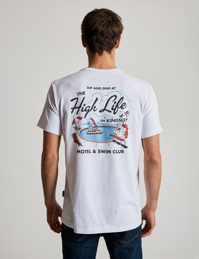Tourist T - High Life - White-T-Shirts-Mr. Simple-S-UPTOWN LOCAL