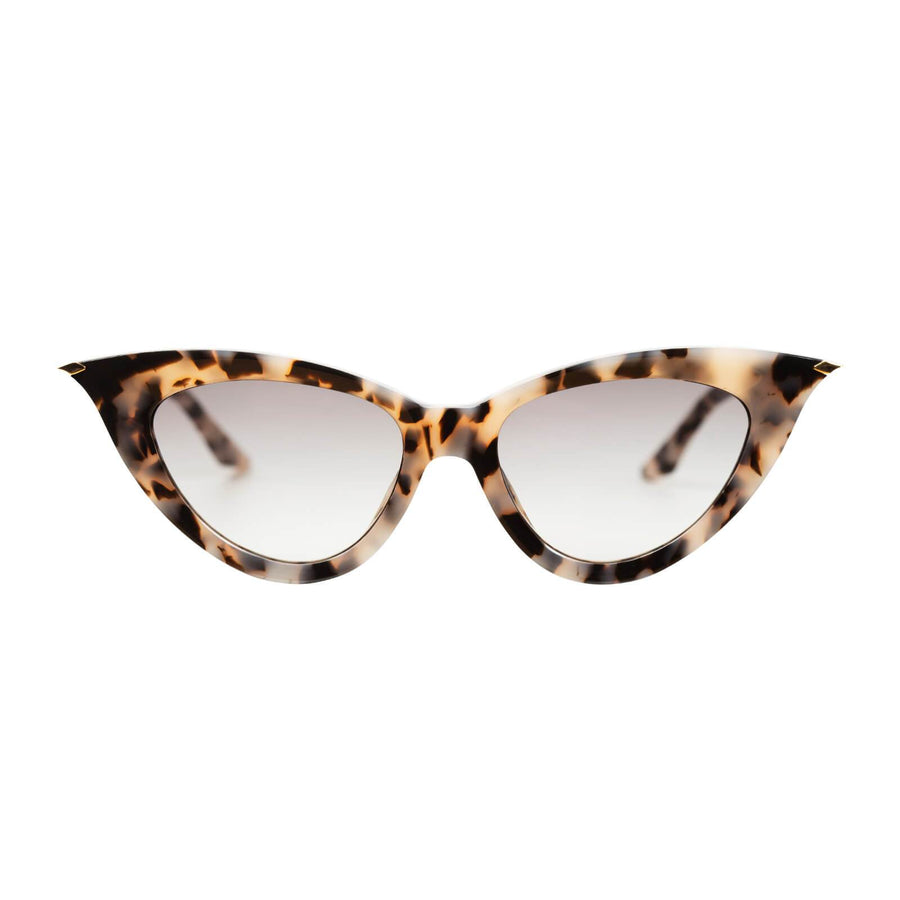 Dagger Ivory Tort w Gold Metal Trim Black Gradient Lens-Sunglasses-Valley-UPTOWN LOCAL