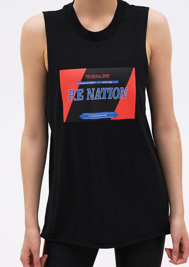 Roll With The Punches Tank Black-Activewear-PE Nation-UPTOWN LOCAL
