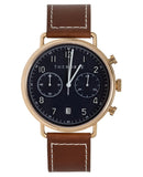 The Chronograph Navy Dial Tan Leather-watch-The Horse-UPTOWN LOCAL