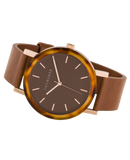 Resin Caramel Treacle Case / Dark Caramel Dial / Rose Gold Indexing / Tan Leather-Watch-The Horse-UPTOWN LOCAL