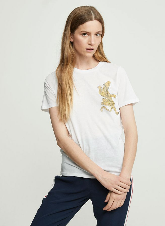 Climbing Leopard Loose Fit T-shirt-T-Shirts-Zoe Karssen-UPTOWN LOCAL