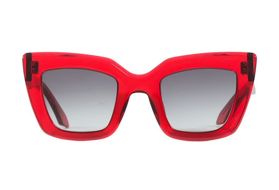 Brigada Transparent Red/ Black Gradient Lens-Sunglasses-Valley-UPTOWN LOCAL
