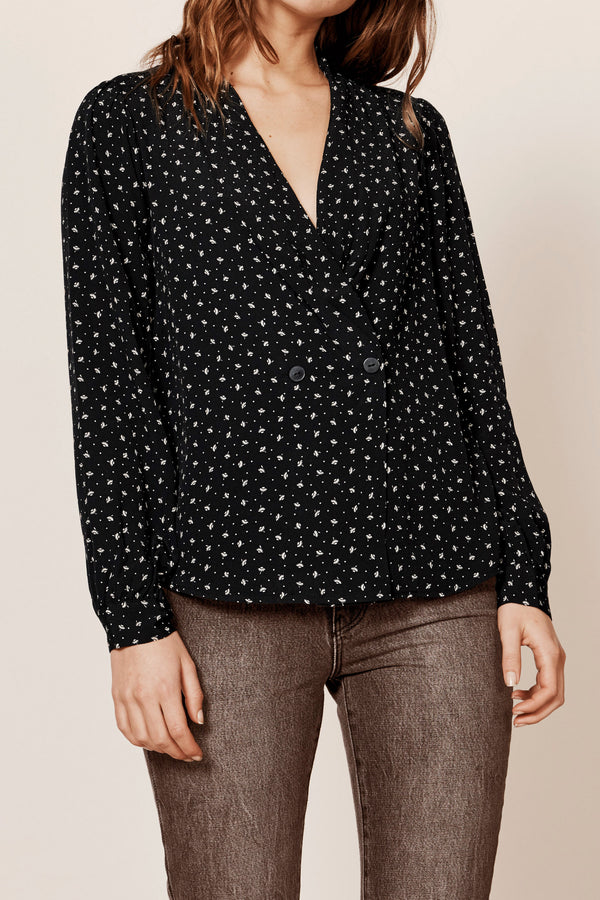 Heidi Blouse Black Dandelion-Shirts-Rolla's-UPTOWN LOCAL