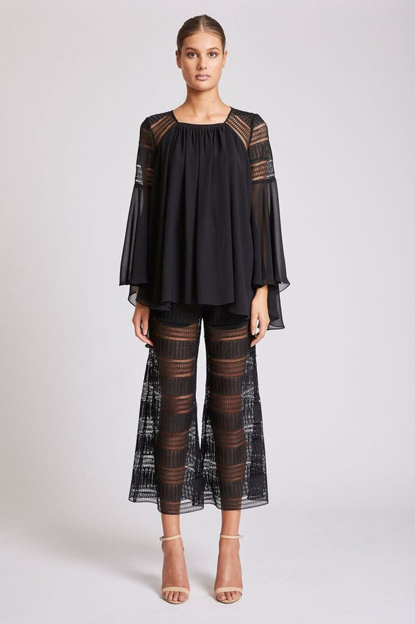 Aruba Relaxed Cropped Flare Black