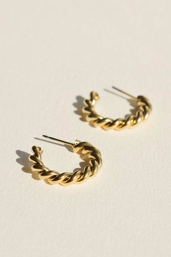 Small Twist Knot Stud Earrings - Gold-Earrings-Brie Leon-UPTOWN LOCAL