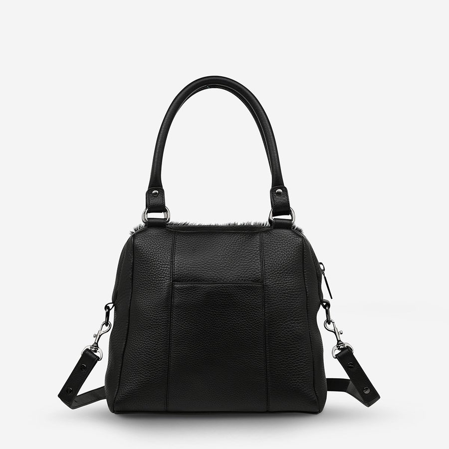 Last Mountains Bag Black Fur-Bags-Status Anxiety-UPTOWN LOCAL
