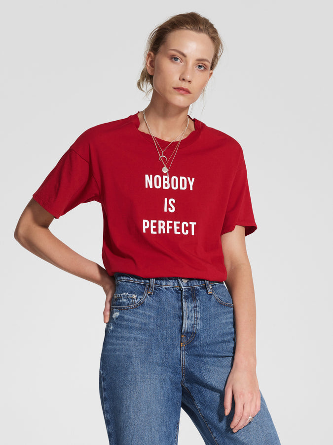Nobody Is Perfect Tee Flame-T-Shirts-Nobody Denim-UPTOWN LOCAL