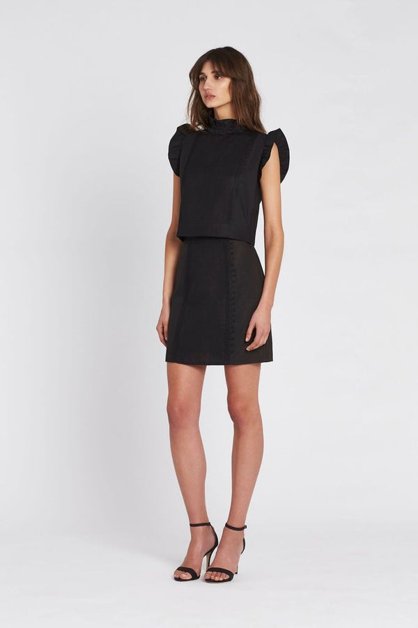 Celle Panelled Mini Skirt Black-Skirts-Sir The Label-UPTOWN LOCAL