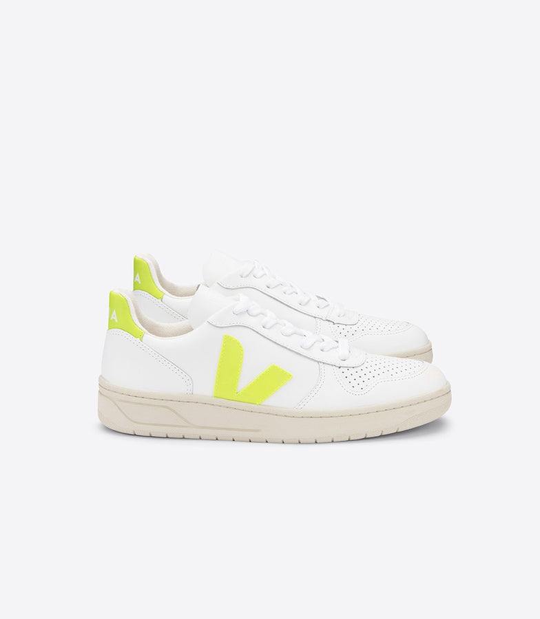 V10 EXTRA WHITE JAUNE FLURO-Shoes-Veja-36-UPTOWN LOCAL