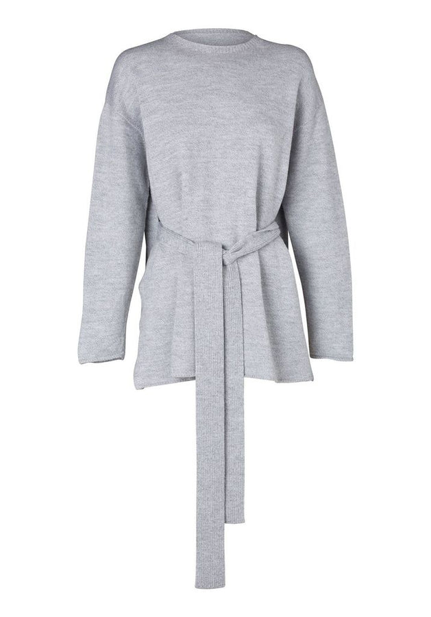 Resurgent Belted Knit Grey-Knitwear-Viktoria and Woods-2-UPTOWN LOCAL