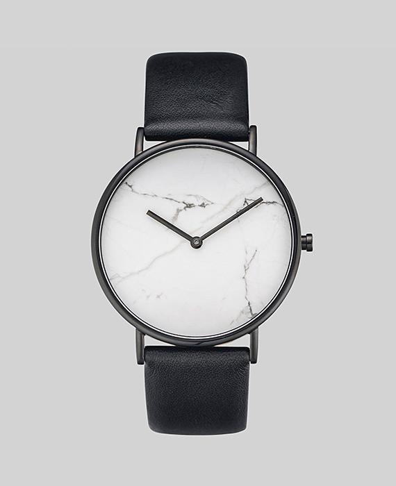 The Stone - White Stone / Black Leather-Watch-The Horse-UPTOWN LOCAL