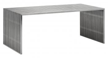 Novel Dining Table Brushed Stainless Steel image