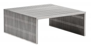 Novel Square Coffee Table Brushed Stainless Steel image