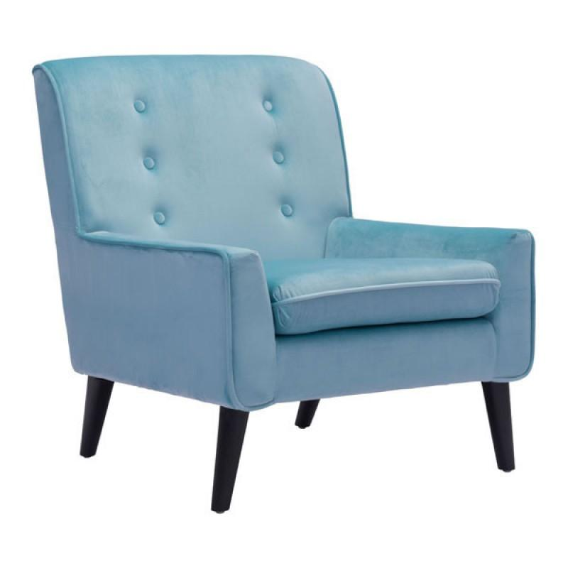 Coney Arm Chair Aqua Velvet
