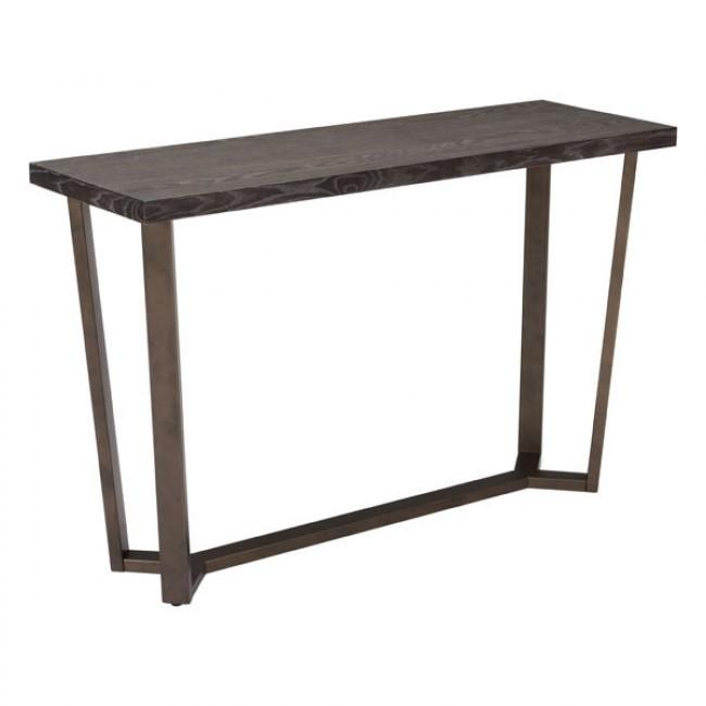 Brooklyn Console Table Gray Oak &A.Brass