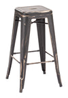 Marius Barstool Antique Black Gold image