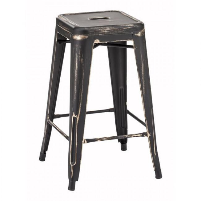 Marius Counter Stool Anti Black Gold