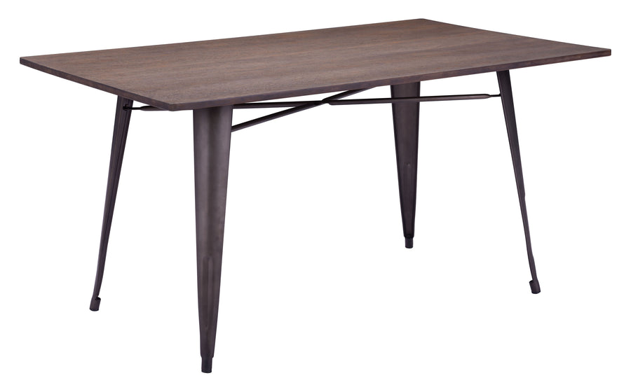 Titus Rectangular Dining Table Rustic Wood image