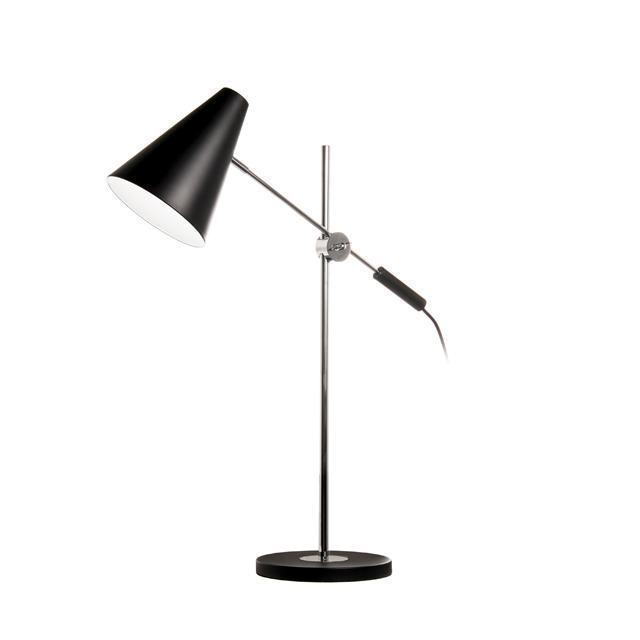 1LT Adjustable Table Lamp, Black & Polished Chrome image