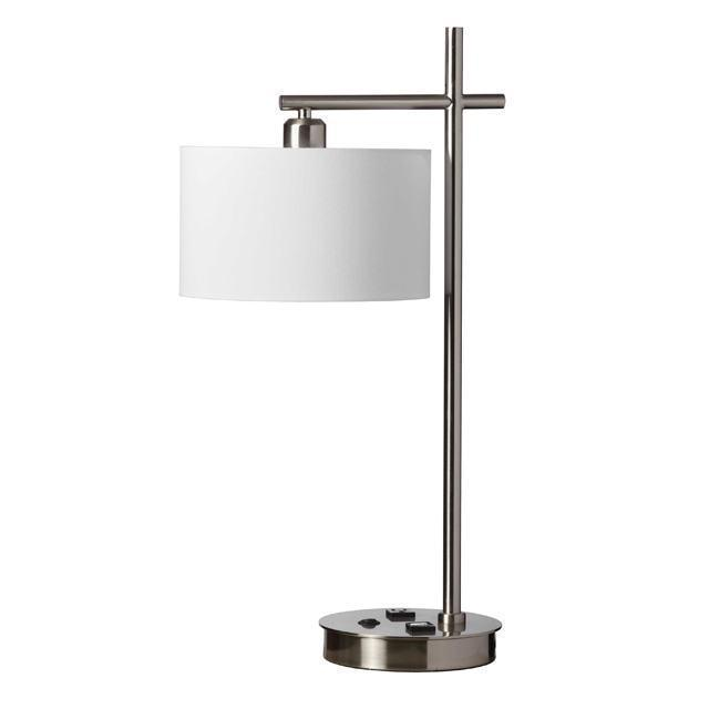 1LT Table Lamp, Satin Chrome image