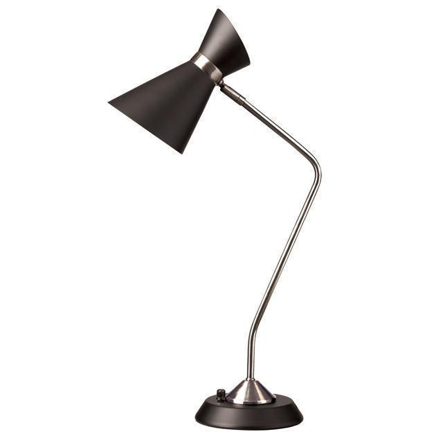 1LT Table Lamp w/ Black Shade, PC image