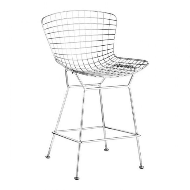 Wire Counter Chair Chrome