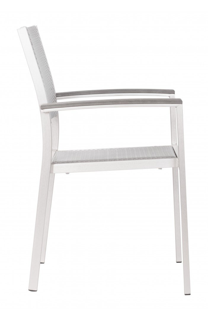Metropolitan Dining Arm Chair Brushed Aluminum image