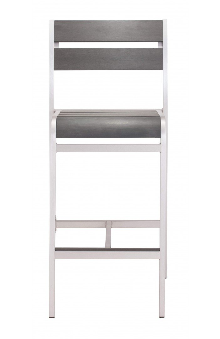 Megapolis Bar Armless Chair Brushed Aluminum image
