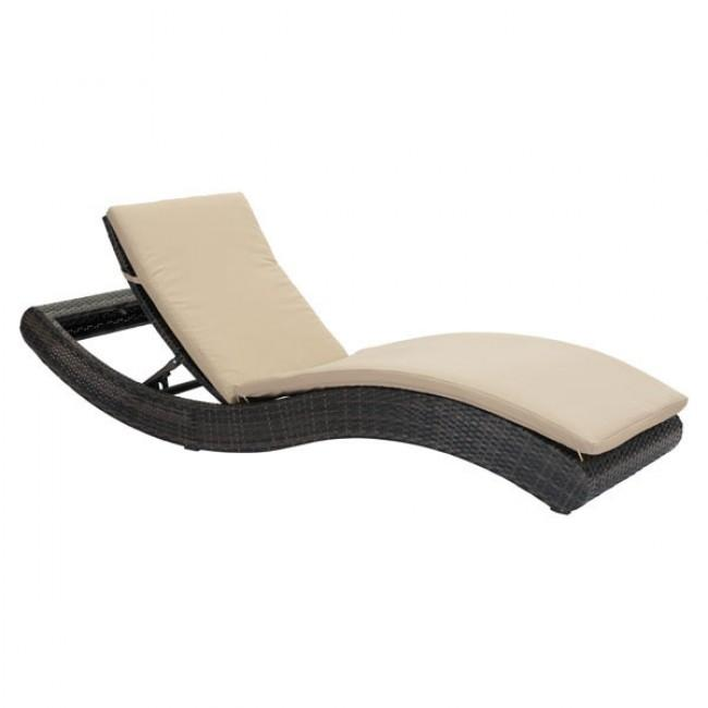Pamelon Beach Chaise Lounge Brn & Beige
