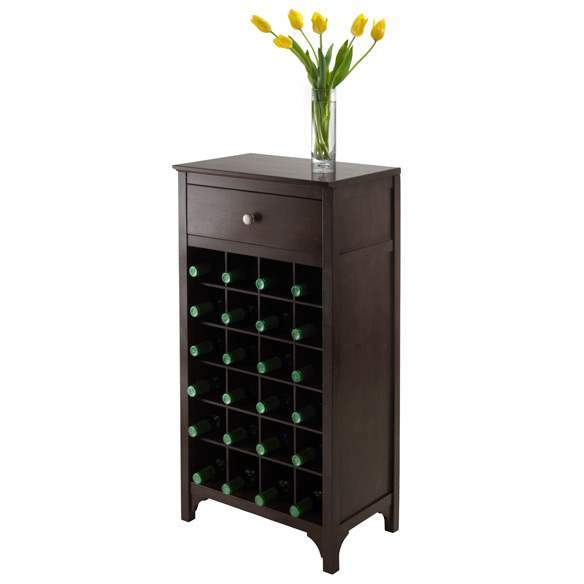 Ancona Modular Wine Cabinet with One Drawer & 24-Bottle image