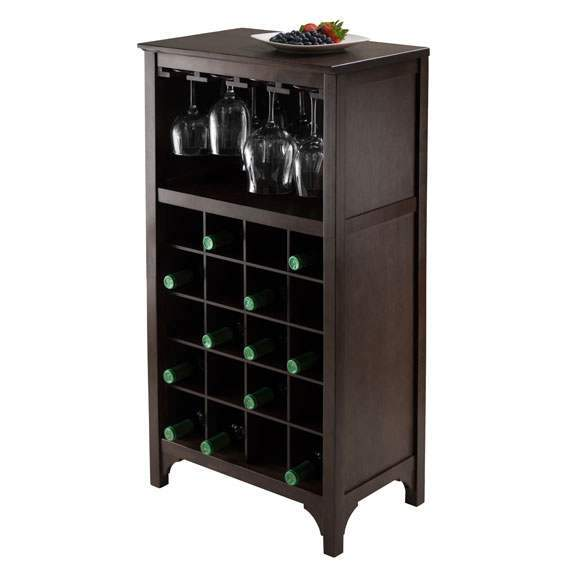 Ancona Modular Wine Cabinet with Glass Rack & 20-Bottle image