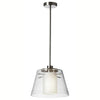 1LT Pendant w/ Clear Glass & White Frosted Glass image