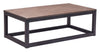 Civic Center Rectangular Coffee Table Distressed Natural image