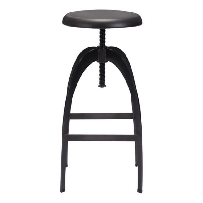 Aristotle Barstool Antique Black