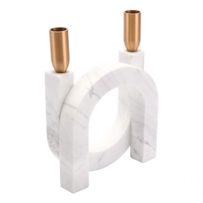 Circular Candle Holder Matt White