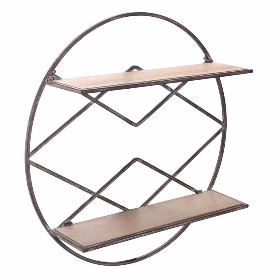 Round Shelf Brown