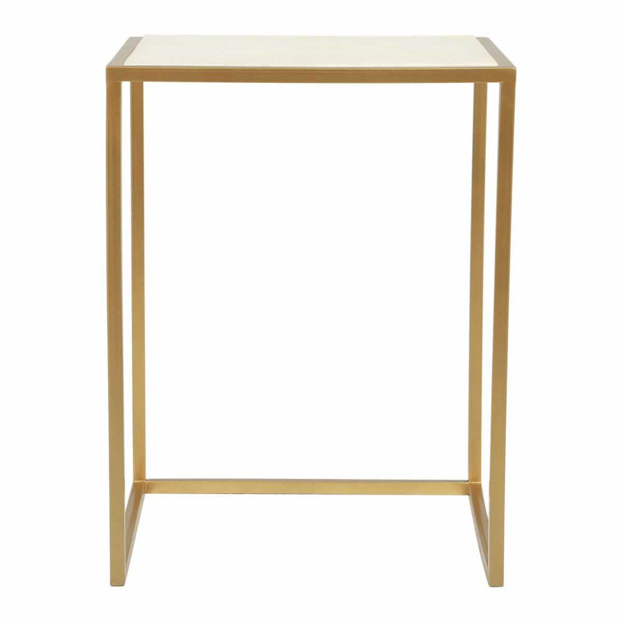 Kensington Nesting Tables Wht & Brass
